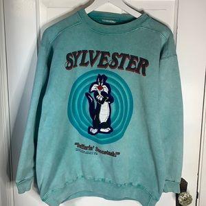 LOONEY TUNES Sylvester 1992 Sweatshirt SZ L